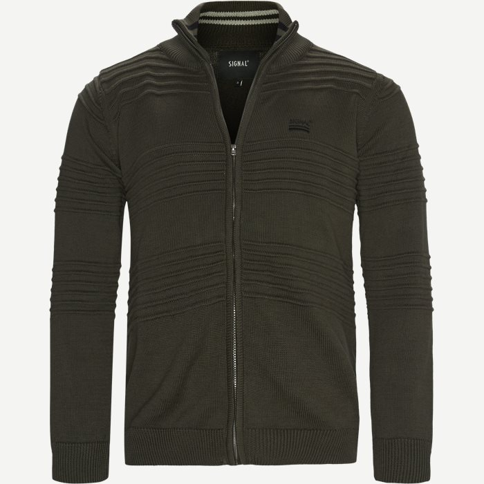 Kay Cardigan - Strik - Regular - Army